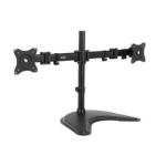 """VONHAUS Double Arm Monitor Desk Mount Stand Suitable for 13"""" to 27"""" Tilt and Swivel"""