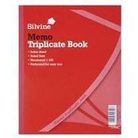 Silvine TRIPLICATE BOOK 10X8 MEMO 606