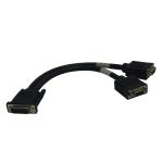 Tripp Lite DMS-59 to Dual VGA Splitter Y Cable (M to 2xF), 0.31 m
