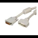 Videk DVI M/F 5.0m 5m DVI DVI Beige DVI cable