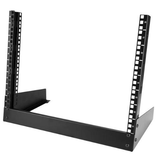 StarTech.com 8U Desktop Rack - 2-Post Open Frame Rack