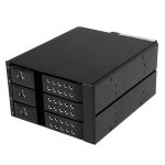 StarTech.com 3-bay aluminium trayless hot-swappable mobile rack backplane voor 3,5 inch SAS II/SATA III 6 Gbps HDD