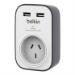 Belkin SurgeCube Grey, White 1 AC outlet(s)