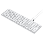 Satechi Wired Keyboard for MacBook Pro/Air, MacBook, iPhone XS Max/XS/XR, 8 Plus/8, iPad Mini, iOS - Silver