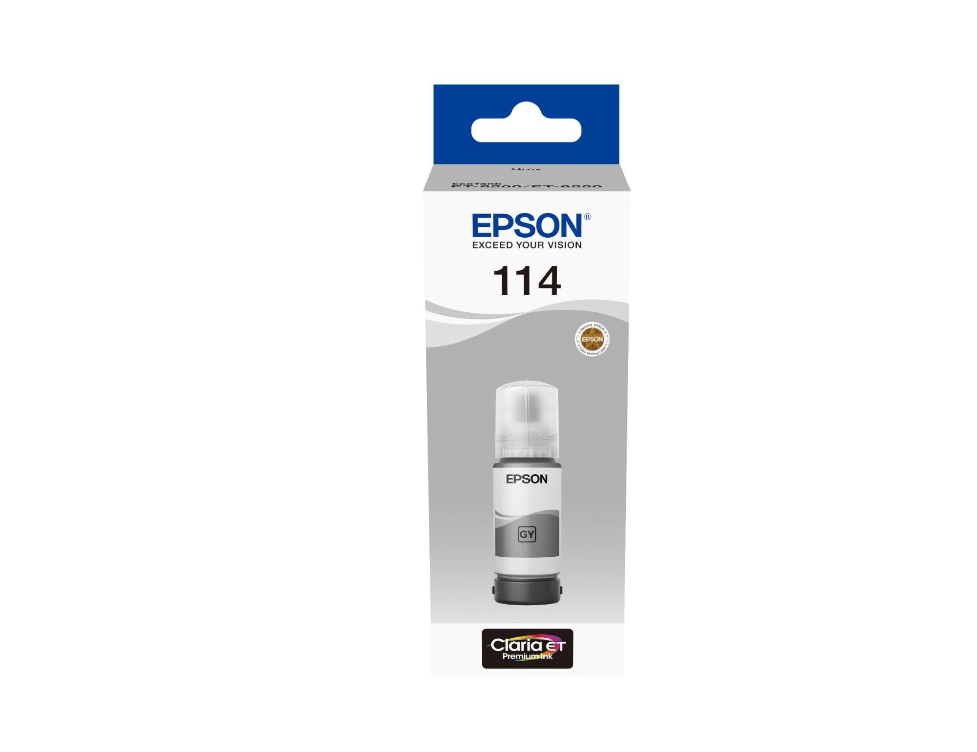 Epson C13T07B540 (114) Ink cartridge gray, 70ml
