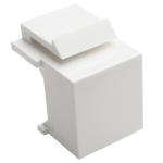 Tripp Lite Snap-In Blank Keystone Jack Insert, White, 10-Pack