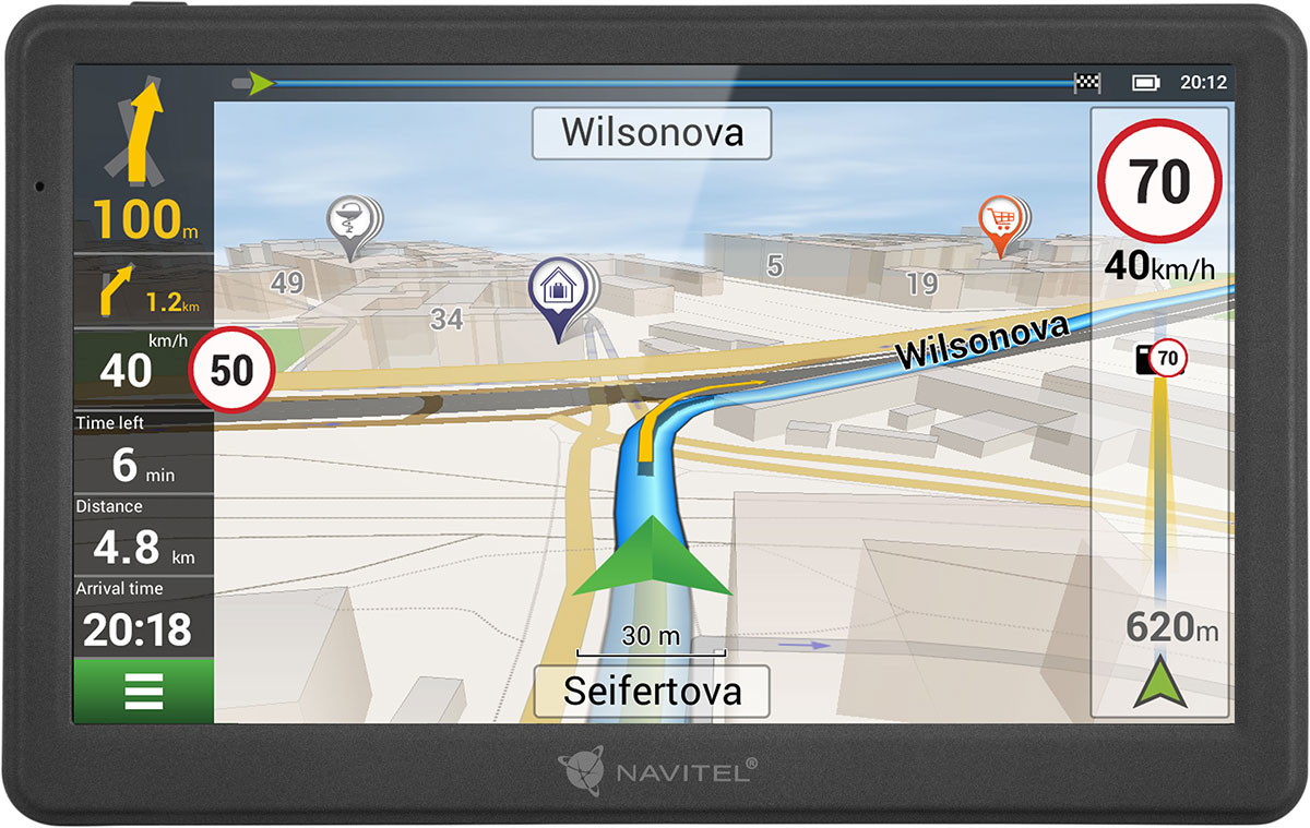 "Navitel MS700 navigator 17.8 cm (7"") Touchscreen TFT Fixed Black"