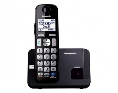Cordless Dect Phone KX-TGC210EB with Call Blocking - Single/ Black