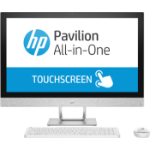 "HP Pavilion 27-r077a 68.6 cm (27"") 1920 x 1080 pixels Touchscreen 2.9 GHz 7th gen Intel® Core™ i7 i7-7700T White All-in-One PC"