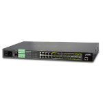 Planet MGSW-24160F Managed network switch L2+ Gigabit Ethernet (10/100/1000) Power over Ethernet (PoE) 1U Black network switch