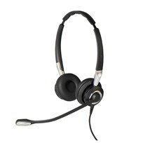 Jabra Biz 2400 II USB Duo CC Binaural Head-band Black, Silver headset