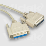 Videk DB25F to DB25M Serial 2m printer cable