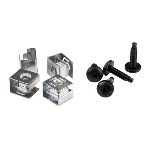 StarTech.com Server Rack Screws and Clip Nuts - 10-32 - Rack Mount Screws and Slide-On Cage Nuts - 50 Pack