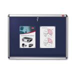 Nobo Internal Display Case Blue Felt A1