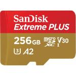 Sandisk 256GB Extreme Plus microSDXC memory card Class 10