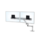"Ergotron LX Series Desk Dual Direct Arm 25"" Freestanding White"