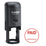 Trodat Printy 46019 Word Stamp Self Inking Red PAID