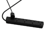 Videk VID0055 4AC outlet(s) 1m Black power extension