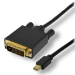 MCL MC293-1.5M adaptador de cable de vídeo 1,5 m Mini DisplayPort DVI-D Negro