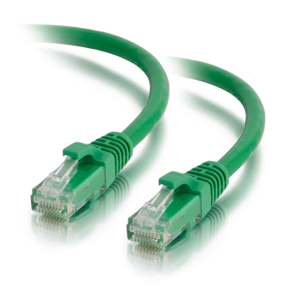 C2G Cable de conexión de red de 2 m Cat5e sin blindaje y con funda (UTP), color verde