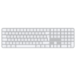 Apple Magic Tastatur USB + Bluetooth Deutsch Aluminium, Weiß