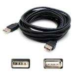 """AddOn Networks USBEXTAB15 USB cable 179.9"""" (4.57 m) 2.0 USB A USB B Black"""