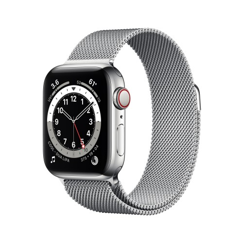 Apple Watch Series 6 40 mm OLED 4G Silver GPS (satellite)