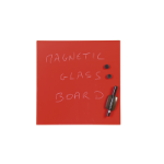 BI-Office DD Bi-Office Red Glass Memo Tile Board 48x48cm