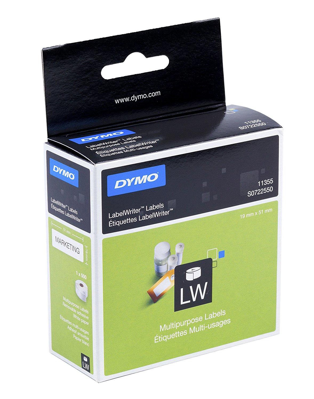 DYMO 11355 (S0722550) DirectLabel-etikettes, 19mm x51mm