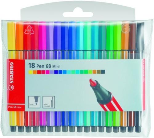STABILO Pen 68 Mini felt pen Multicolor 20 pc(s)