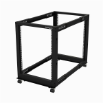 "StarTech.com 15U 19"" Open Frame Server Rack - 4 Post Adjustable Depth 22-40"" Mobile - Free Standing Rolling Network/Computer Equipment Data Rack - Dell PowerEdge HP ProLiant ThinkServer"
