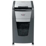 Rexel Optimum AutoFeed+ 300M paper shredder Micro-cut shredding 55 dB 23 cm Black, Silver