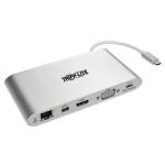 Tripp Lite U442-DOCK1 USB-C Dock, Dual Display - 4K HDMI/mDP, VGA, USB 3.2 Gen 1, USB-A/C Hub, GbE, Memory Card, 100W PD Charging
