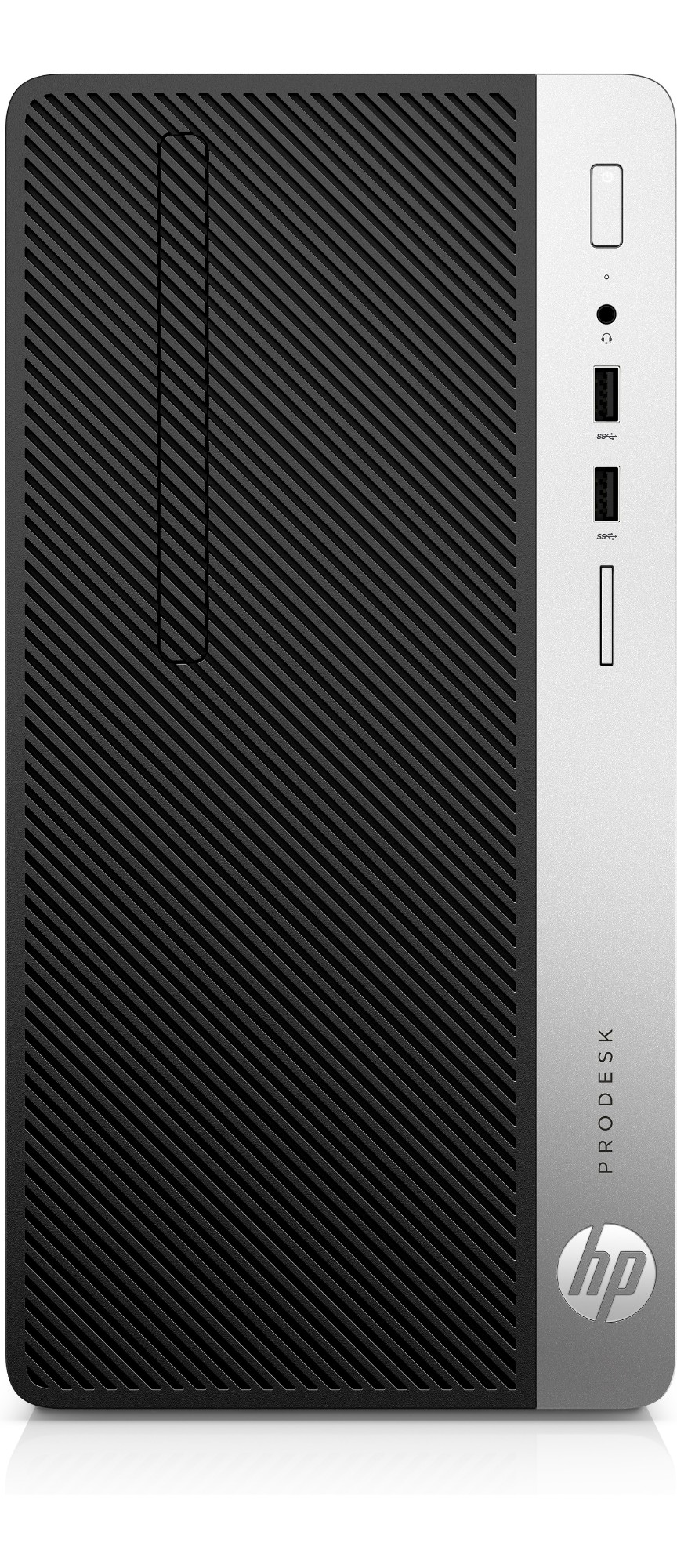 HP ProDesk 400 G4 3.7GHz i3-6100 Micro Tower Black, Silver PC