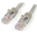 StarTech.com Cable de 2m Gris de Red Fast Ethernet Cat5e RJ45 sin Enganche - Cable Patch Snagless