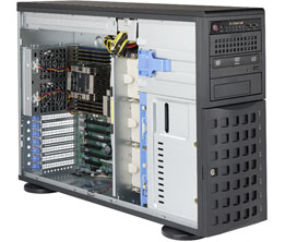 Supermicro SuperServer 7049P-TR Intel C621 LGA 3647 4U Black