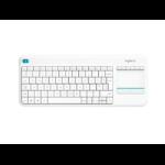 Logitech K400 Plus toetsenbord RF Draadloos AZERTY Frans Wit
