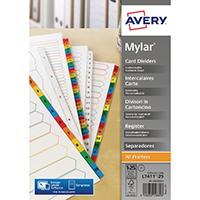Avery Numeric Index Wht 1-25