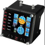 Logitech G G Saitek Pro Flight Instrument Panel Black USB 2.0 Flight Sim Analogue PC