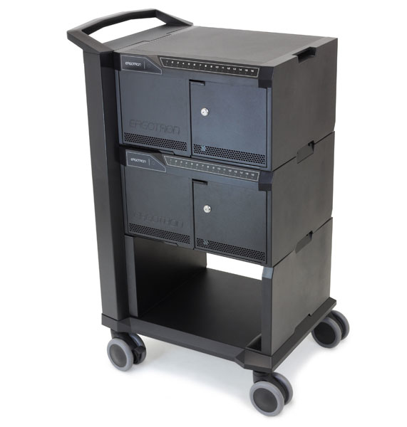 Ergotron 24-334-085 TABLET MANAGEMENT CART WITH LED ISI - INDIVIDUAL STATUS INDICATOR - SYNC/CHARGE 2 MODULES