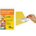 PELLTECH BUSINESS CARD PKT 60X95MM SIDE OPEN PK10