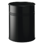 Durable 3300 15L Steel Black waste basket