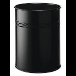 Durable 3300 15L Steel Black waste basket