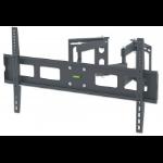 "Manhattan TV & Monitor Mount, Corner Wall, Full Motion, 1 screen, Screen Sizes: 37-75"", Black, VESA 200x200 to 800x400mm, Max 60kg, LFD, Tilt & Swivel with 3 Pivots, Lifetime Warranty"