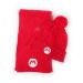 Nintendo Super Mario Bros. Mario Logo Braid Bobble Beanie & Ribbed Scarf Gift Set, Unisex, Red (GS612880NTN)