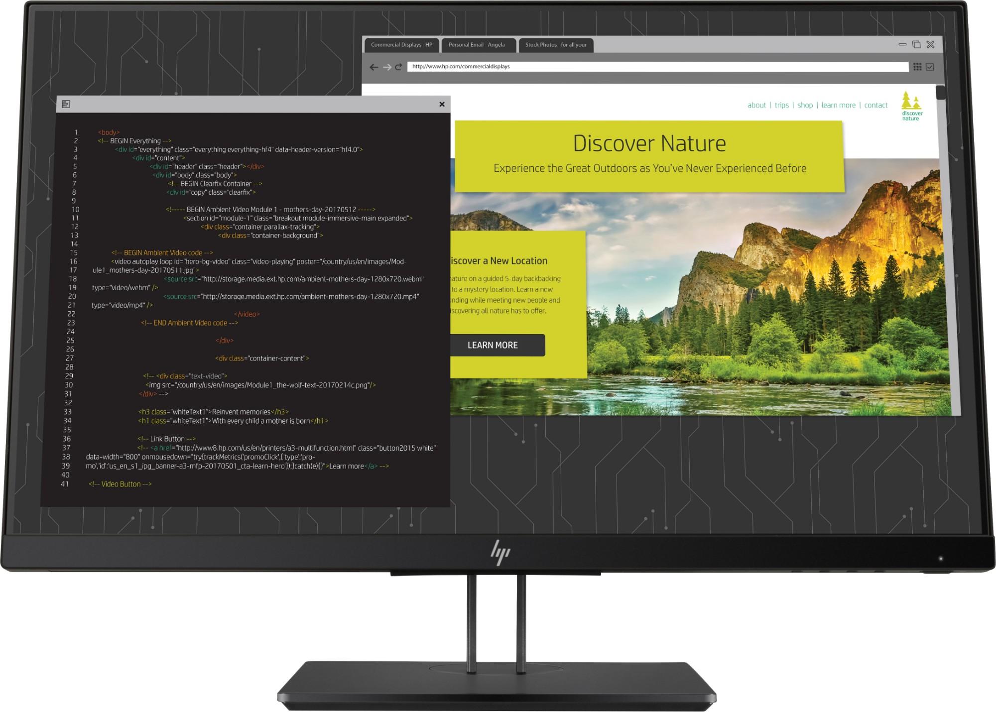"""HP Z24nf G2 computer monitor 60.5 cm (23.8"""") 1920 x 1080 pixels Full HD LED Flat Matt Black"""