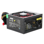 ACE 650W PSU, ATX 12V, Active PFC, 4 x SATA, PCIe, 120mm Silent Red Fan, Black Casing