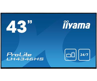 "iiyama LH4346HS-B1 signage display 108 cm (42.5"") LED Full HD Digital signage flat panel Black"