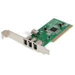 StarTech.com 4 port PCI 1394a FireWire Adapter Card - 3 External 1 Internal