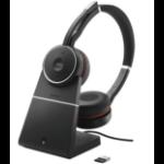 Jabra Evolve 75 UC Stereo Headset Head-band Bluetooth Black
